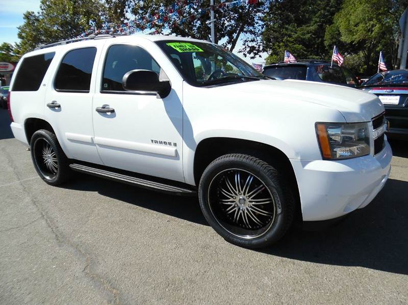 2007 CHEVROLET TAHOE LS 4DR SUV white need financing we can help call now  call today  call t