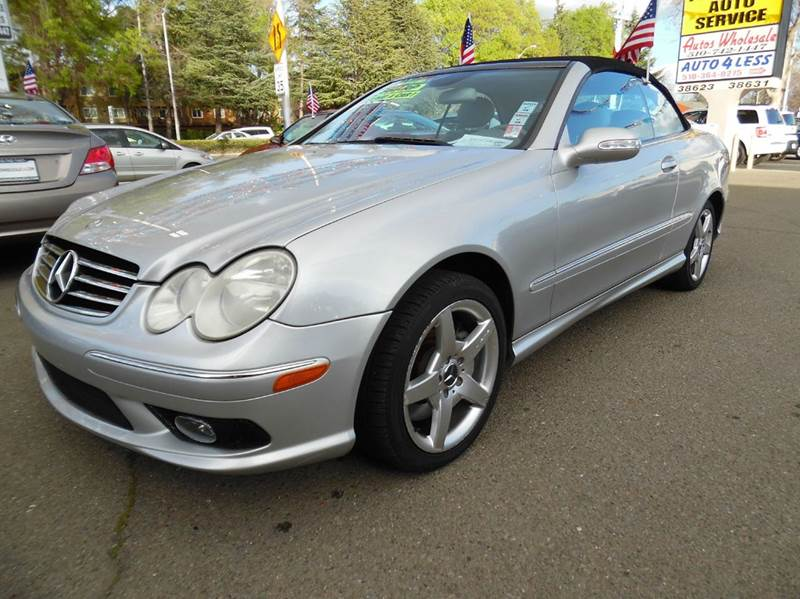 2005 MERCEDES-BENZ CLK CLK500 2DR CABRIOLET silver need financing we can help call now  call t
