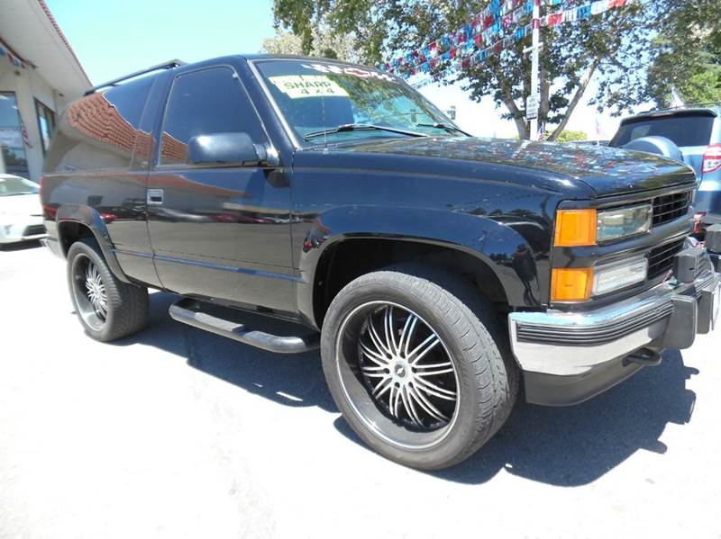 1997 CHEVROLET TAHOE LS 2DR 4WD SUV black need financing we can help call now  call today  ca