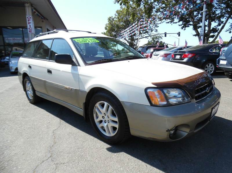 2002 SUBARU OUTBACK BASE AWD 4DR WAGON WWEATHER PKG white need financing we can help call now