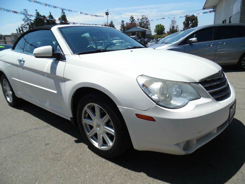 2008 CHRYSLER SEBRING LIMITED 2DR CONVERTIBLE white need financing we can help call now  call