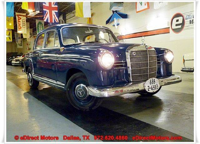 Used 1960 mercedes benz 180 in dallas tx at edirect motors for Mercedes benz for sale in dallas tx