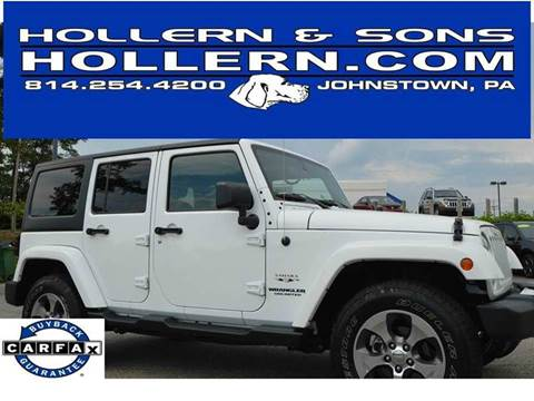 2016 Jeep Wrangler Unlimited for sale in Johnstown, PA