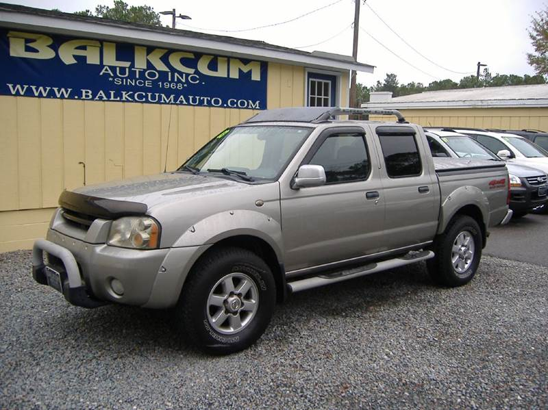 2003 nissan frontier 4dr crew cab se v6 4wd sb w leather in wilmington nc balkcum auto since. Black Bedroom Furniture Sets. Home Design Ideas
