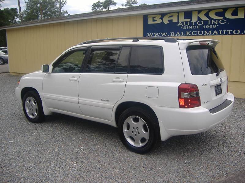 2007 toyota highlander awd limited 4dr suv w 3rd row in wilmington nc balkcum auto since 1968. Black Bedroom Furniture Sets. Home Design Ideas