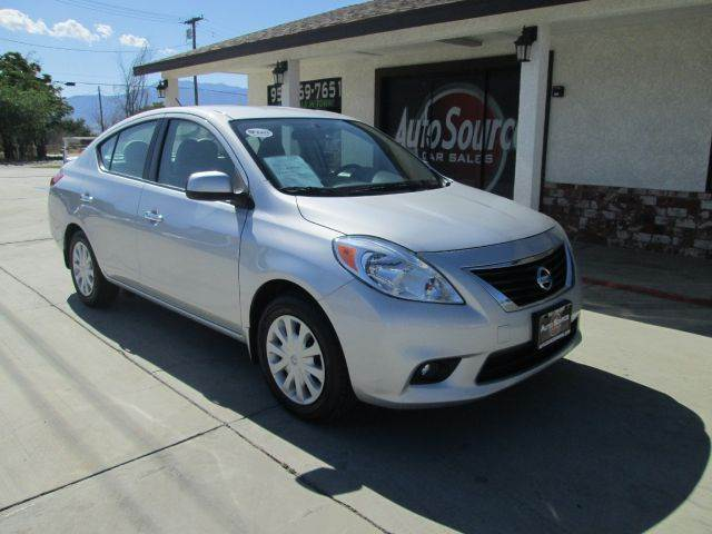2013 nissan versa 1 6 sv 4dr sedan in banning ca auto source. Black Bedroom Furniture Sets. Home Design Ideas