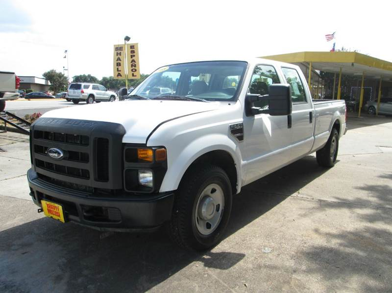 2008 ford f 350 super duty xl 4dr crew cab sb rwd w 10k package in houston tx thrifty motors inc. Black Bedroom Furniture Sets. Home Design Ideas