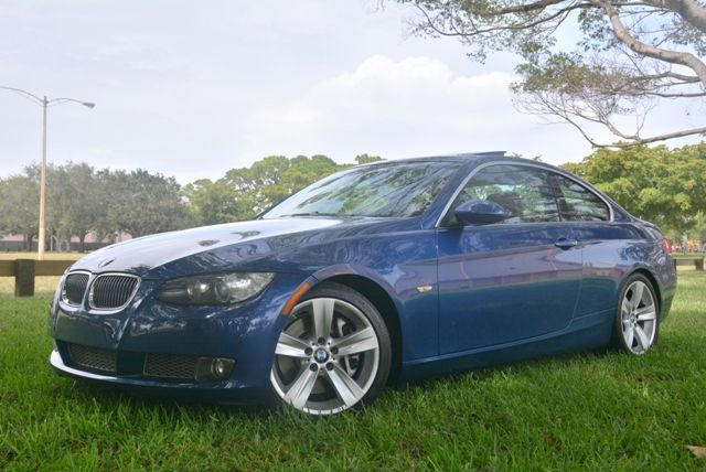 2007 BMW 3 SERIES 335I RWD 6 SPEED MANUAL blue rare 6 speed manual bmw 335i coup100 carfax c