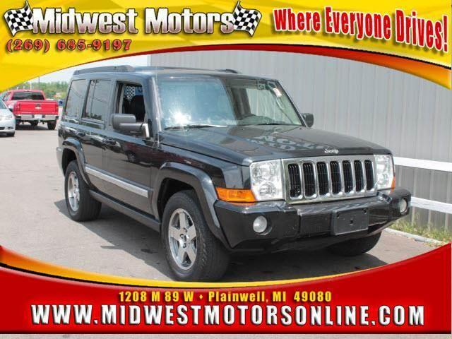 2010 JEEP COMMANDER SPORT 4X4 4DR SUV black look forward to long road trips with anti-lock brakes