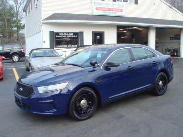 2013 ford taurus awd police interceptor 4dr sedan in west bridgewater ma international auto. Black Bedroom Furniture Sets. Home Design Ideas