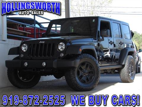 jeep wrangler for sale in raleigh nc. Black Bedroom Furniture Sets. Home Design Ideas