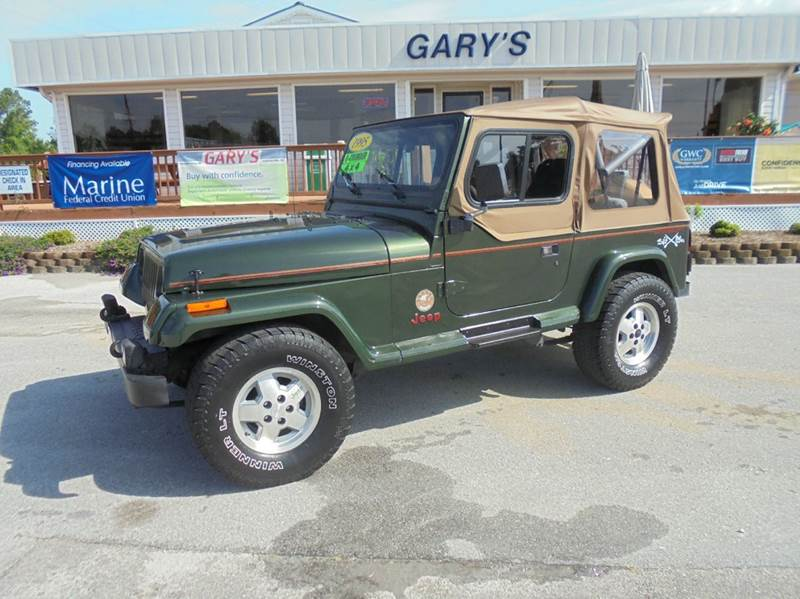 1995 jeep wrangler 2dr sahara 4wd suv in jacksonville nc gary 39 s auto sales. Black Bedroom Furniture Sets. Home Design Ideas