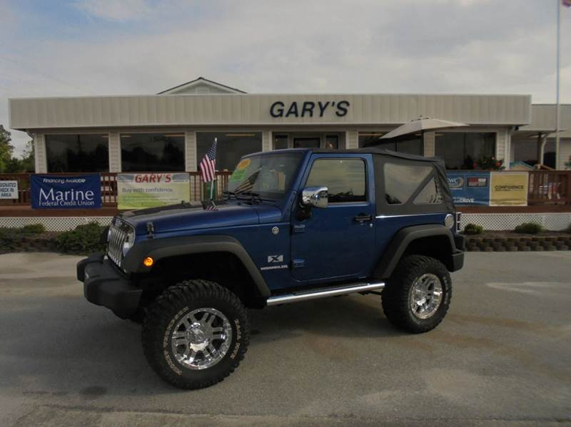 2009 jeep wrangler 4x4 x 2dr suv in jacksonville nc gary 39 s auto sales. Black Bedroom Furniture Sets. Home Design Ideas