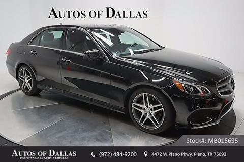 2014 Mercedes-Benz E-Class for sale in Plano, TX