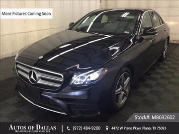 2017 Mercedes-Benz E-Class for sale in Plano, TX