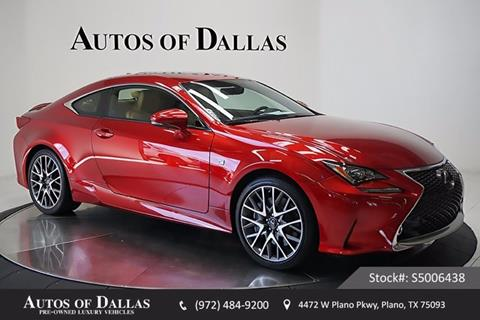 2015 Lexus RC 350 for sale in Plano, TX