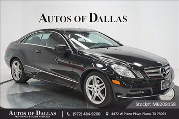 2013 Mercedes-Benz E-Class for sale in Plano, TX