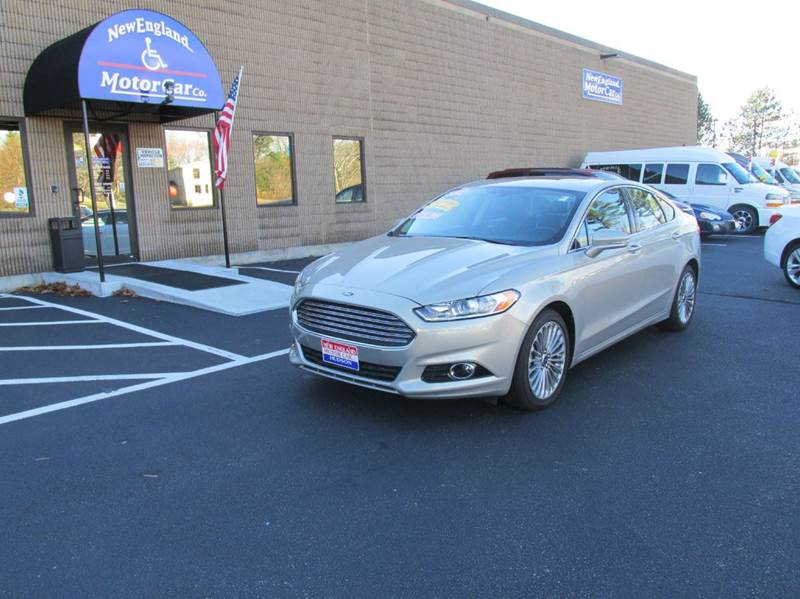2016 Ford Fusion Titanium 4dr Sedan In Hudson Nh New England Motor Car Co