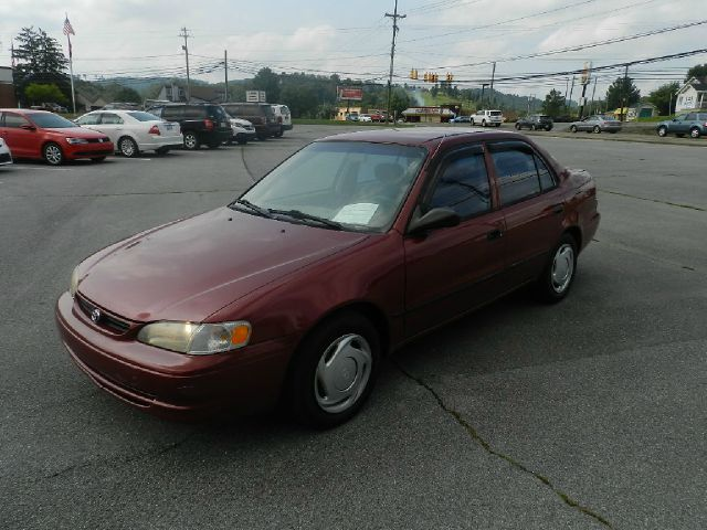 2000 TOYOTA COROLLA LE 4DR SEDAN maroon cassette center console clock exterior mirrors - power