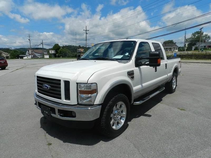 2008 FORD F-250 SUPER DUTY LARIAT 4DR CREW CAB 4WD SB white all electrical and optional equipment
