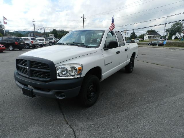 2007 DODGE RAM PICKUP 1500 ST 4DR QUAD CAB 4WD SB white 4wd type - part time abs - rear-only ant