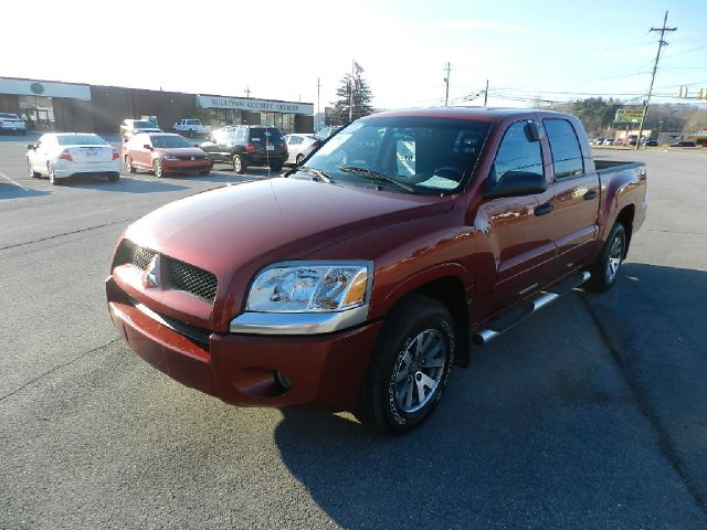 2007 MITSUBISHI RAIDER LS 4DR DOUBLE CAB SB lava red 2-stage unlocking - remote abs - rear airba