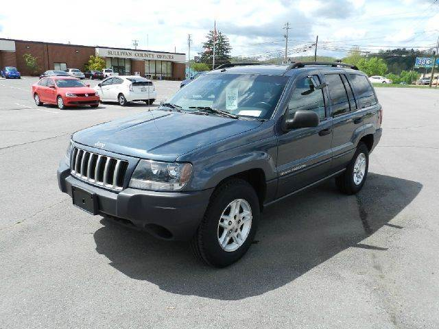 2004 JEEP GRAND CHEROKEE LAREDO 4WD 4DR SUV blue all power equipment on this vehicle is in workin