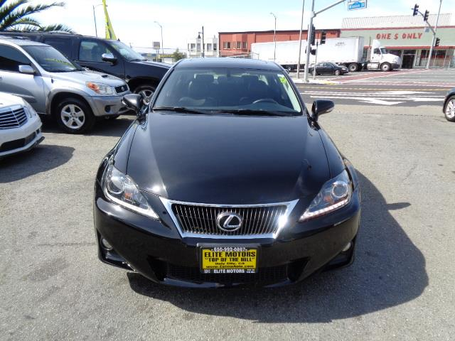 2012 LEXUS IS 250 BASE 4DR SEDAN 6A obsidian navigation bluetooth backup camera heated and cool