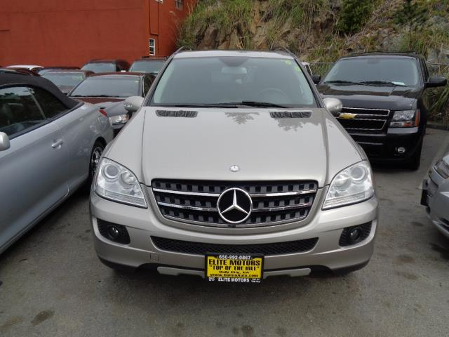 2007 MERCEDES-BENZ M-CLASS ML350 AWD 4MATIC 4DR SUV pewter navigation heated seats aluminum runni