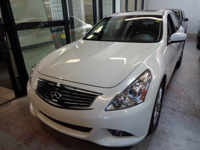 2013 INFINITI G37 SEDAN JOURNEY 4DR SEDAN moonlight white metallic technology package navigation