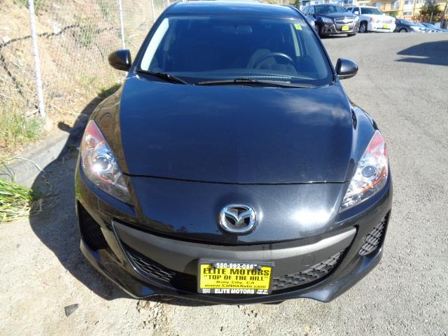 2012 MAZDA MAZDA3 I SPORT SEDAN metallic black 49881 miles VIN JM1BL1UG7C1594369