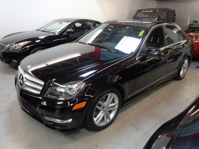 2013 MERCEDES-BENZ C-CLASS SPORT black navigation heated seats backup camera 17908 miles VIN