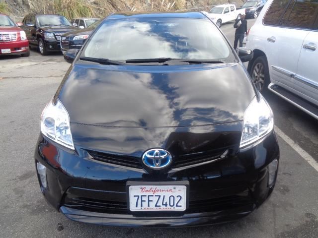 2012 TOYOTA PRIUS 4D HATCHBACK black air conditioning alarm power steering power windows powe