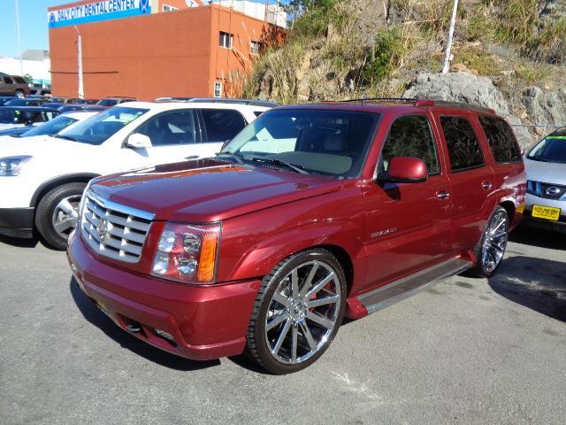 2002 CADILLAC ESCALADE BASE AWD 4DR SUV red e 24 inch dub wheels dual dvd screens in dash naviga