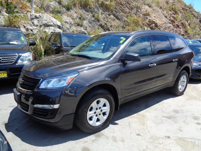 2014 CHEVROLET TRAVERSE LS 4DR SUV cyber gray metallic rear spoiler - rooflinechrome assist step
