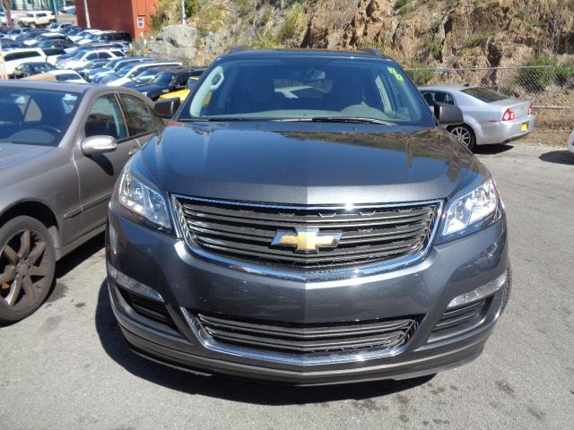 2013 CHEVROLET TRAVERSE LS 4DR SUV graphite grey door handle color - chromemirror color - black