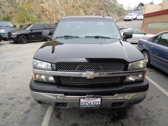 2004 CHEVROLET SILVERADO 1500 LT black 4wd leather power windows and locks jl subwoofers 165