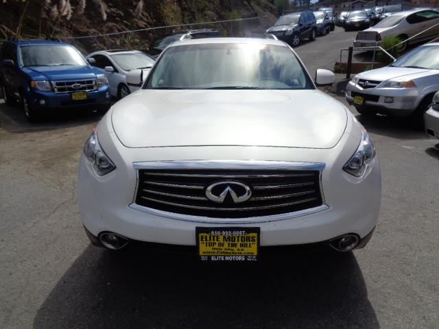 2013 INFINITI FX37 FX37 moonlight white metallic 50783 miles VIN JN8CS1MW2DM174344
