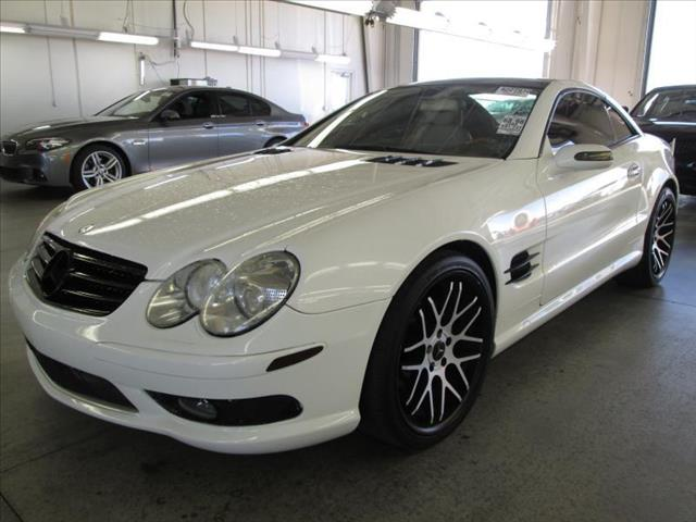 2005 MERCEDES-BENZ SL-CLASS SL500 2DR CONVERTIBLE arctic white navigation heated seats center con