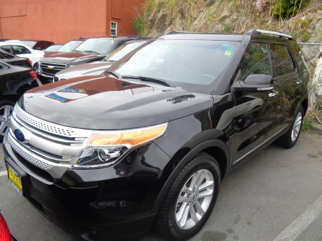 2013 FORD EXPLORER XLT 4DR SUV black leather 3rd row seat rear spoiler - rooflinedoor handle co