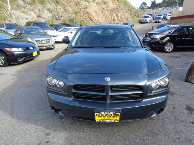 2007 DODGE CHARGER BASE 4DR SEDAN steel blue metallic clearcoat 22 inch wheels rear dvd system bl