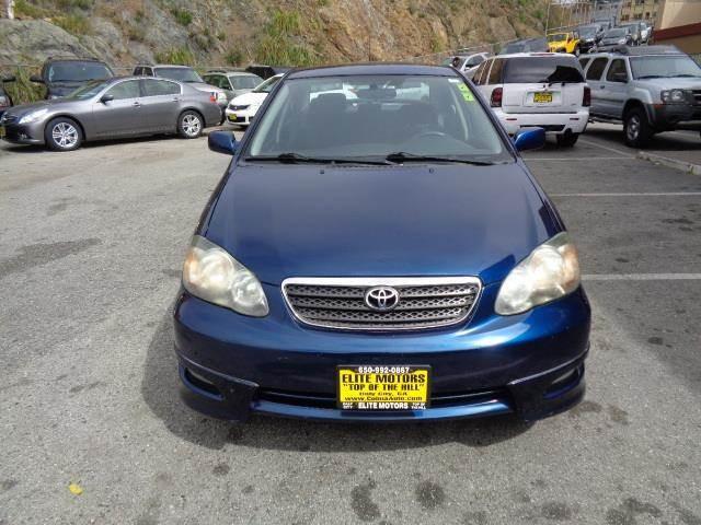2007 TOYOTA COROLLA S SEDAN midnight blue 66235 miles VIN 1NXBR32E97Z866089