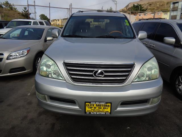 2007 LEXUS GX 470 BASE 4DR SUV 4WD silver running boards - stepgrille color - chromeair filtrat