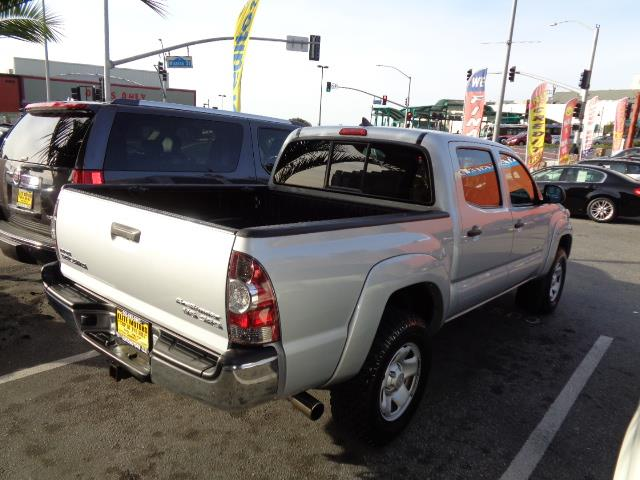 2012 TOYOTA TACOMA PRERUNNER V6 4X2 4DR DOUBLE CAB silver bed extenderbed matbed stepdoor handl