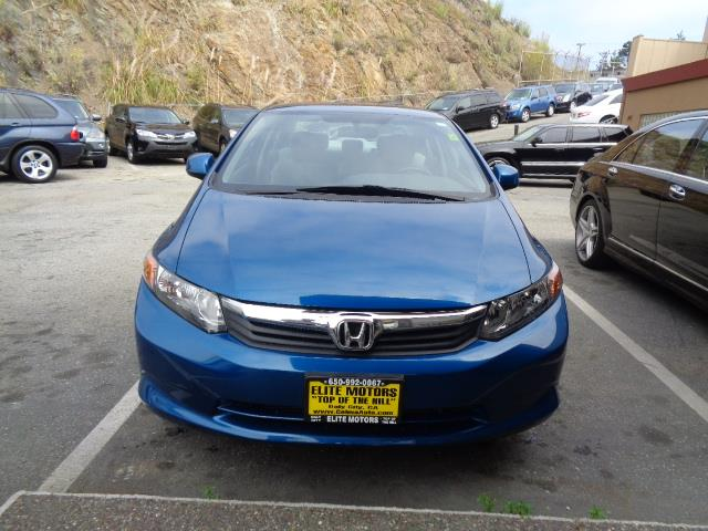 2012 HONDA CIVIC LX 4DR SEDAN 5A dyno blue pearl air conditioning 31350 miles VIN 19XFB2F52CE