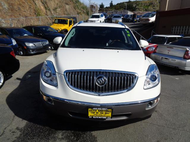 2010 BUICK ENCLAVE CXL 4DR SUV W1XL white 3rd row seat leather heated seats carbon black metall