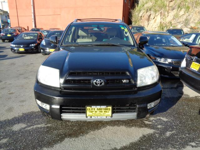 2003 TOYOTA 4RUNNER LIMITED 4DR SUV black rear spoilerrunning boardsskid platesfront air con
