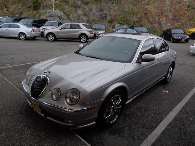 2003 JAGUAR S-TYPE 42 V8 4DR SEDAN silver leather front air conditioningfront air conditioning