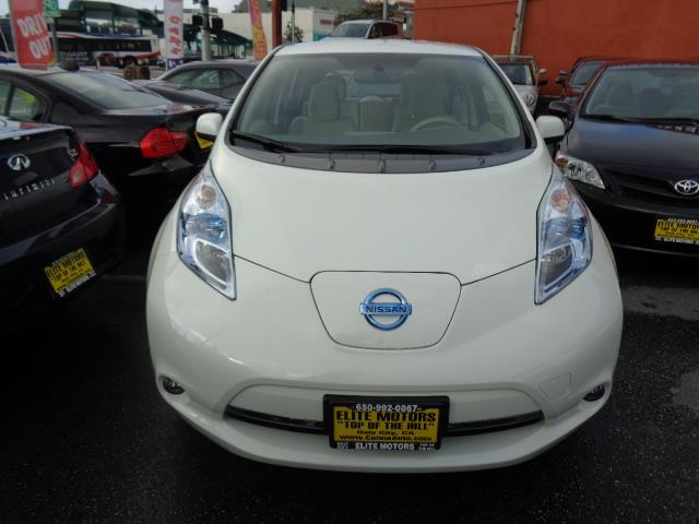 2012 NISSAN LEAF SV 4DR HATCHBACK pearl white navigation heated seats bluetooth clean access st