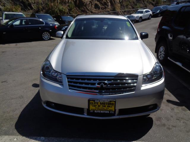 2006 INFINITI M45 silver leather heated seats navigation 167409 miles VIN JNKBY01E66M201154